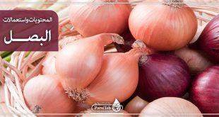 المحتويات واستعمالات البصل