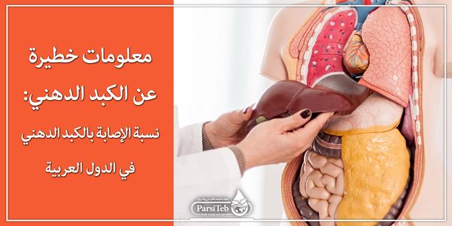 معلومات خطيرة عن الكبد الدهني:نسبة الإصابة بالكبد الدهني في الدول العربية
