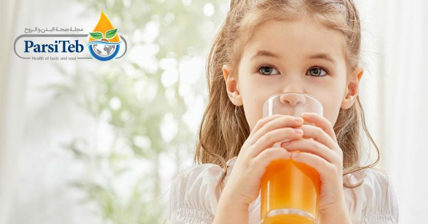 المواد الغذائية المضرة للأطفال-العصير