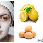 انواع القناع للبشرة الدهنيةقناع بياض البيض والليمون
