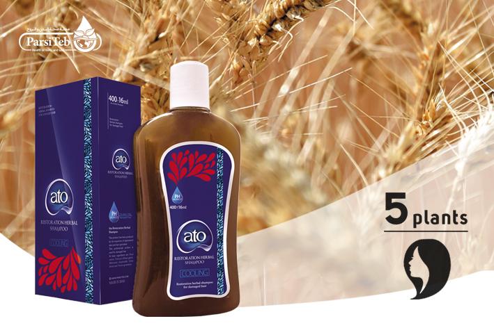 شامبو آتو 5 أعشاب لعلاج أنواع الشعر المصبغ والمتضرر-ato